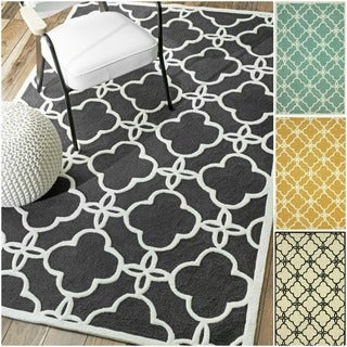 nuLOOM Handmade Indoor / Outdoor Lattice Trellis Rug (7'6 x 9'6)