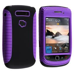 Purple TPU/ Black Plastic Hybrid Case for BlackBerry Torch 9800/9810