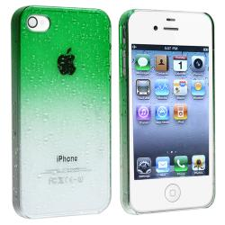 Clear Green Waterdrop Snap-on Case for Apple iPhone 4/ 4S