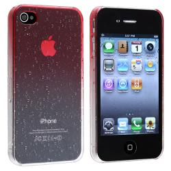 Clear Red Waterdrop Snap-on Case for Apple iPhone 4/ 4S