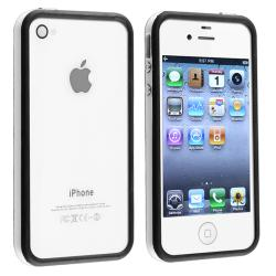 White/ Black Bumper TPU Rubber Skin Case for Apple iPhone 4/ 4S