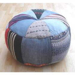 nuLOOM Handmade Casual Living Indian Patches Pouf