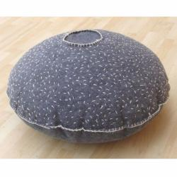 nuLOOM Handmade Casual Living Indian Orbits Pouf