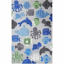 nuLOOM Handmade Kids Aquarium New Zealand Wool Rug (5' x 7')
