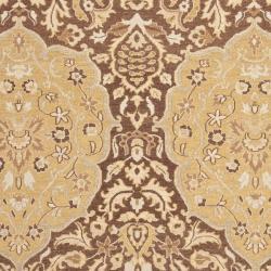 Sumak Flatweave Heirloom Brown and Gold Wool Rug (4 x 6)