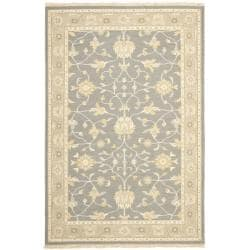 Sumak Flatweave Heirloom Grey Wool Rug (6 x 9)