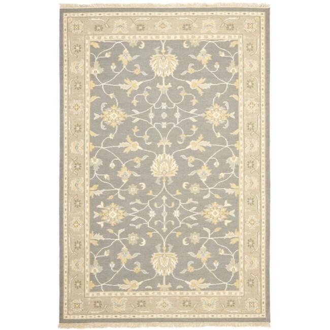 Sumak Flatweave Heirloom Grey Wool Rug (8 x 10)