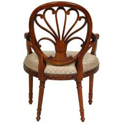 Mahogany Sandy Tile Queen Elizabeth Sitting Room Chair (China)