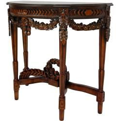 Wood Queen Anne Console Table (China)