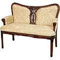 Mahogany Golden Ivy Queen Anne Sitting Room Love Seat (China)