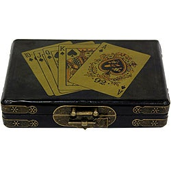 Black Lacquer Playing Card Set Box (China)