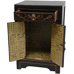 Black Lacquer Cabinet End Table (China)