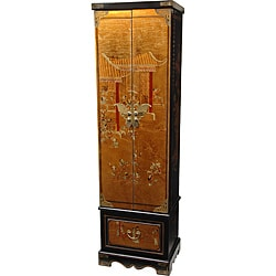 Gold Leaf Floor Jewelry Armoire (China)