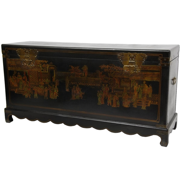 Black Lacquer Daily Life Trunk (China)