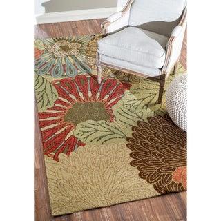 nuLOOM Handmade Indoor/Outdoor Floral Rug (8' x 10')