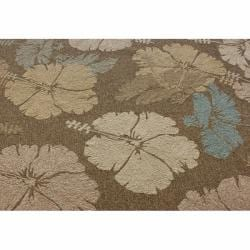 nuLOOM Handmade Indoor/Outdoor Floral Brown Rug (5' x 8')