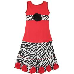 AnnLoren Girl's 2-piece Zebra Tank and Capri Set