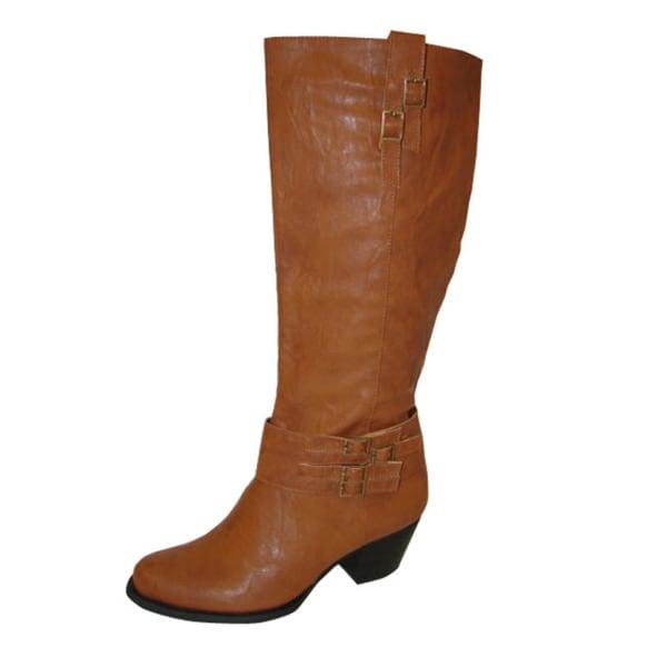 Bucco Women's Cognac Riding Boots
