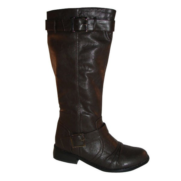 Bucco Women's Mid-Calf Black Riding Boots