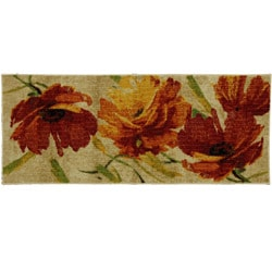 Flamboyant Orange Floral Rug (2' x 5')