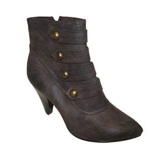 Bucco Women's Brown Zip-up Booties