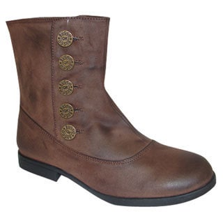 Bucco Women's Brown Button-up Booties