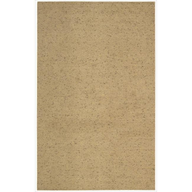 Nourison Hand-tufted Wool Values Gold Rug (5' x 8')
