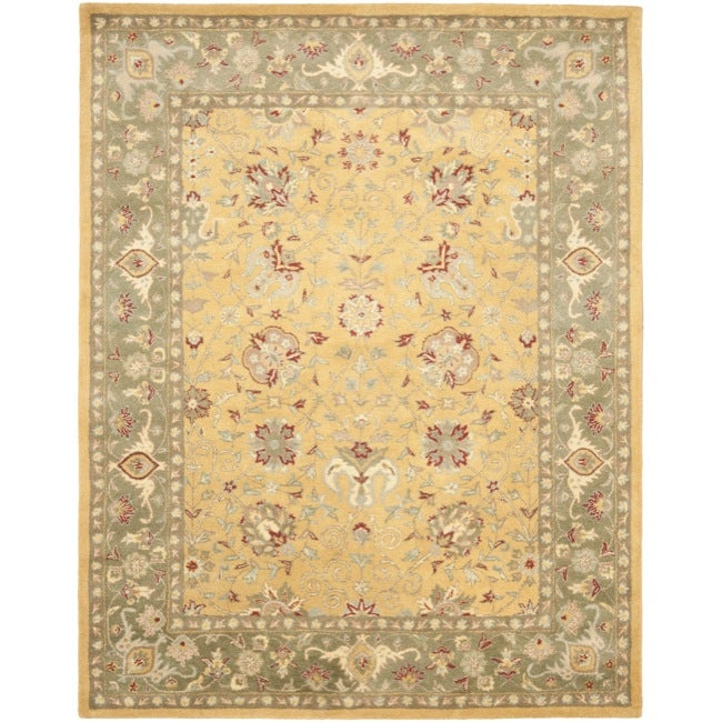 Safavieh Handmade Traditions Gold/ Sage Wool Area Rug (7'6 x 9'6)