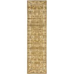 Safavieh Oushak Green/Cream Runner Rug (2'3 x 8')