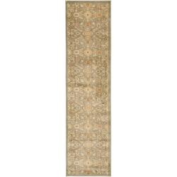 Oushak Blue/ Gold Rug (2'3 x 8')