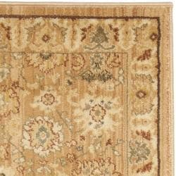 Oushak Light Brown/ Light Brown Rug (2'3 x 8')