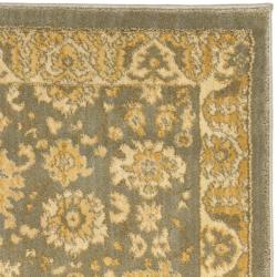 Oushak Grey/ Gold Rug (2'3 x 8')