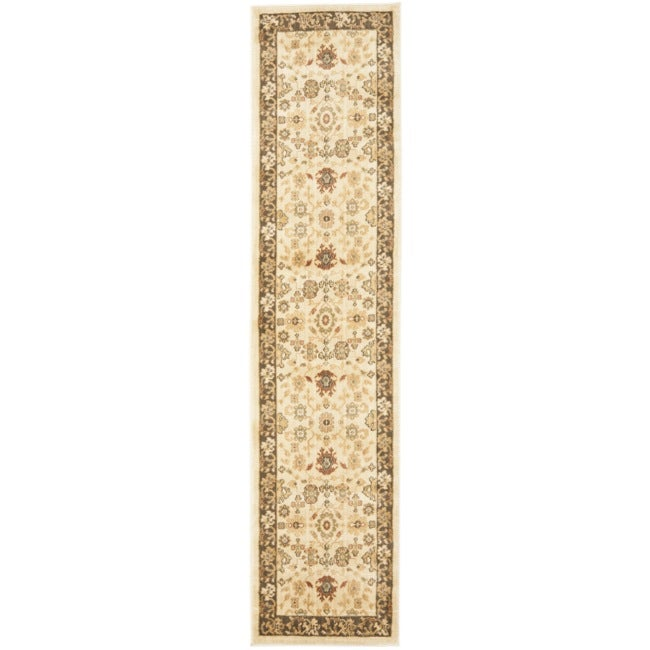 Safavieh Oushak Cream/ Brown Rug (2'3 x 8')