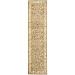 Safavieh Oushak Green/ Cream Rug (2'3 x 8')