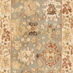 Oushak Blue/ Cream Rug (2'3 x 8')