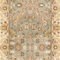 Oushak Blue/ Cream Runner Rug  (2'3 x 8')