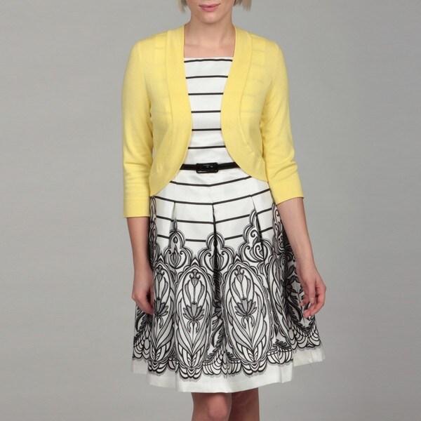Jessica Howard Women's Yellow Bolero Sweater