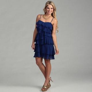 Calvin Klein Women's Spaghetti Strap Layered Dress