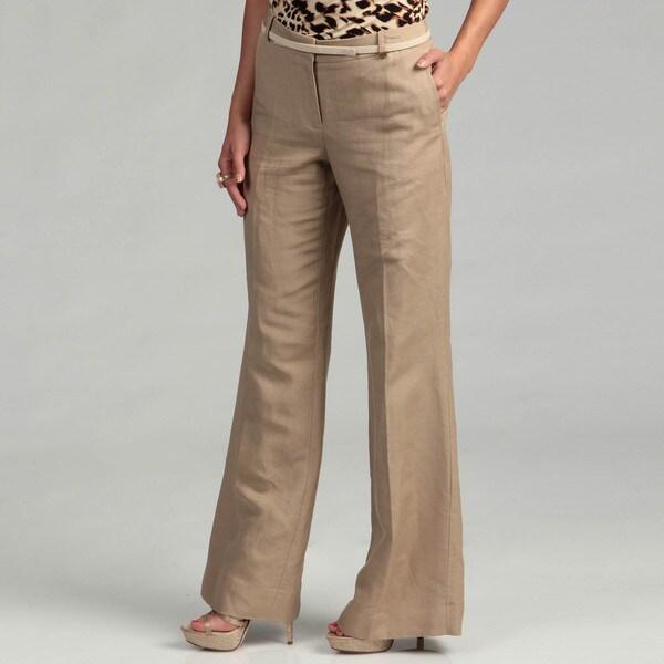 Calvin Klein Women's Dark Khaki Bowery Pants