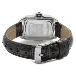 Invicta Women's IN-5168 'Lupah' Shiny Dark Grey Leather Watch