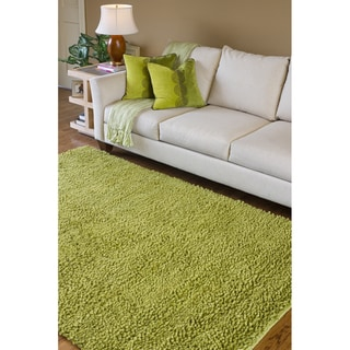 Hand-woven Montevideo Colorful Plush Shag New Zealand Felted Wool Shag Rug (9' x 13')