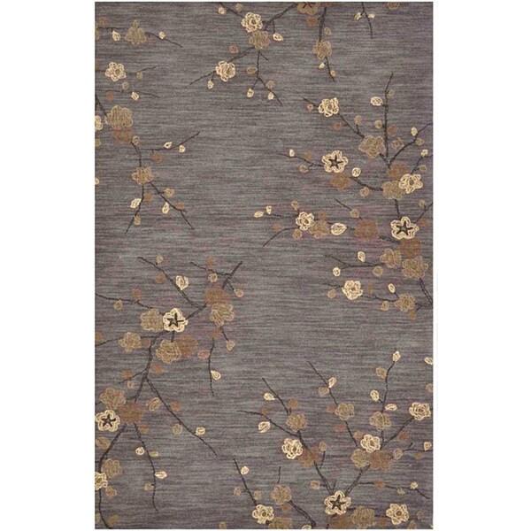 Hand-tufted Grey Multicolor Rug (3'6 x 5'6)