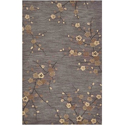 Hand-tufted Grey Multicolor Rug (3'6 x 5'6)