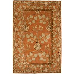Hand Tufted Orange Beige Wool Rug 5 X 8 14095360