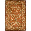 Hand-tufted Orange Wool Area Rug (2' x 3')