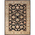 Hand-tufted Black Wool Area Rug (10' x 14')