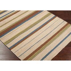 Hand Woven Frontier Wool Rug (5' x 8')