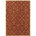 Hand-tufted Red Wool Area Rug (8' x 11')