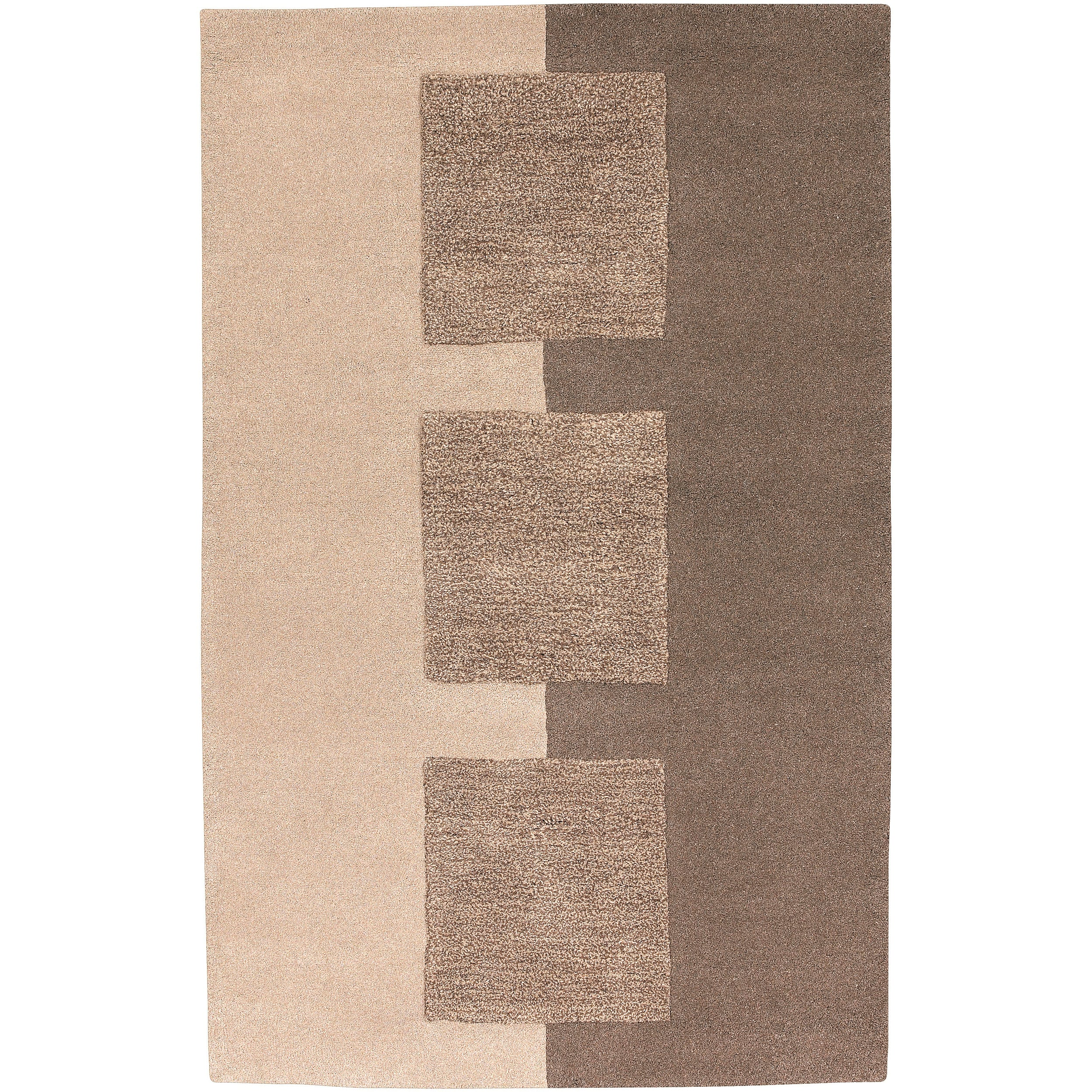 Hand-tufted Contemporary Brown Kanosh New Zealand Wool Abstract Rug (5' x 8')