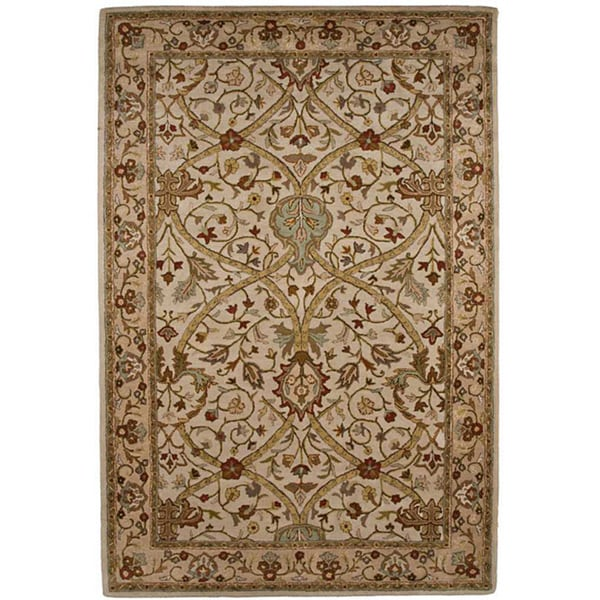 Hand-tufted Ivory Wool Area Rug (5' x 8')